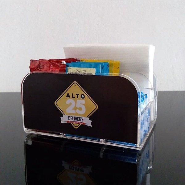 Porta Guardanapo Personalizado para Bares Lanchonetes e Restaurantes