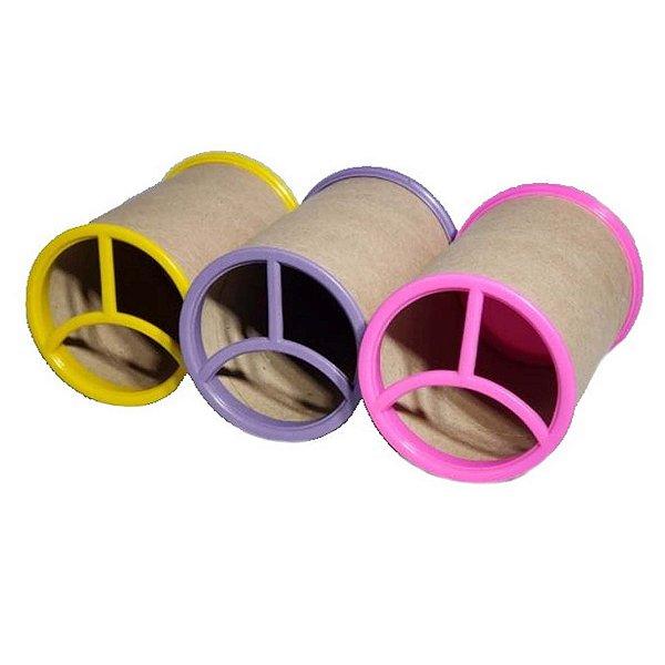 Porta Canetas de Papelão c/ Tampa Plástica Varias Cores Caixa c/ 200 Un