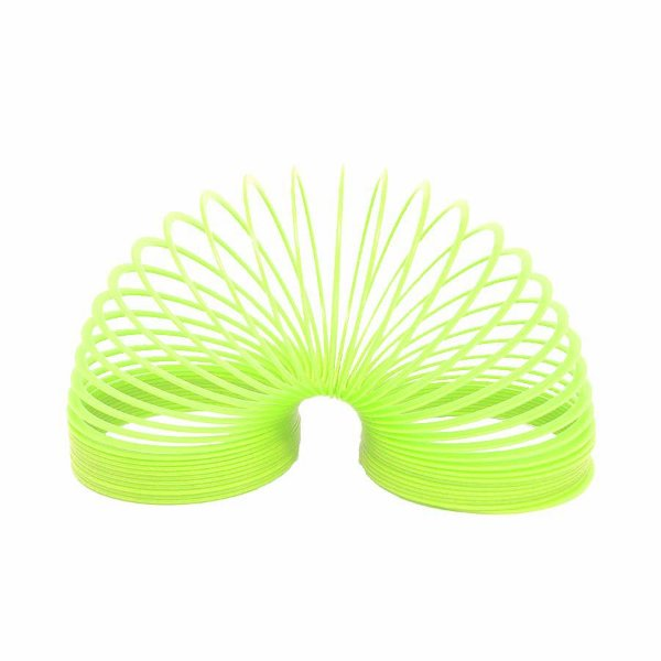Brinquedo Mola Maluca Grande Verde Neon Unidade