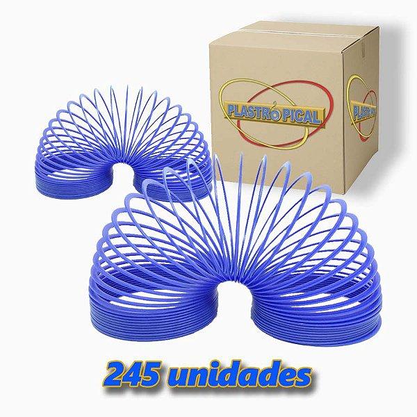 Caixa de Mola Maluca Grande Azul c/ 245 Unidades