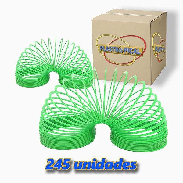 Caixa de Mola Maluca Grande Verde Claro c/ 245 Unidades