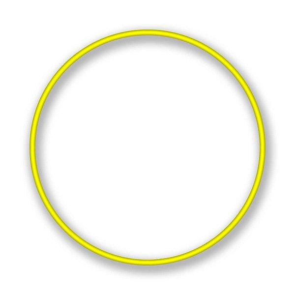 Bambolê Arco Plastico Reforçado Amarelo 50cm Unidade
