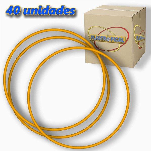 Caixa de Bambolê Infantil Plastico Reforçado Laranja 50cm C/ 40 Unidades