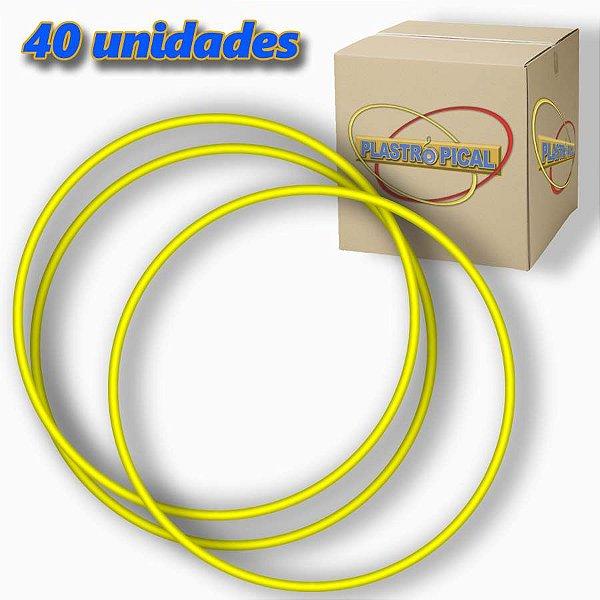 Caixa de Bambolê Grande Plastico Reforçado Amarelo 65cm C/ 40 Unidades