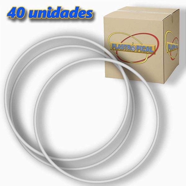 Caixa de Bambolê Grande Plastico Reforçado Branco 65cm C/ 40 Unidades