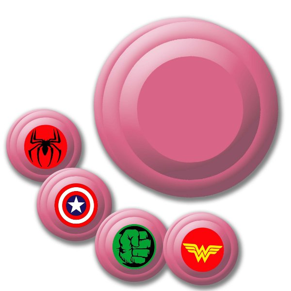 Yoyo Solapa Plastico de Alta Qualidade Rosa Claro Unidade