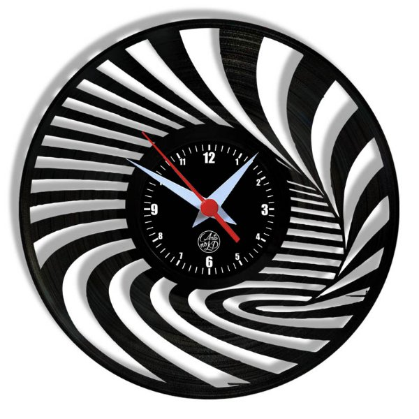 Relógio de Vinil - Relógio Psicodélico Abstrato