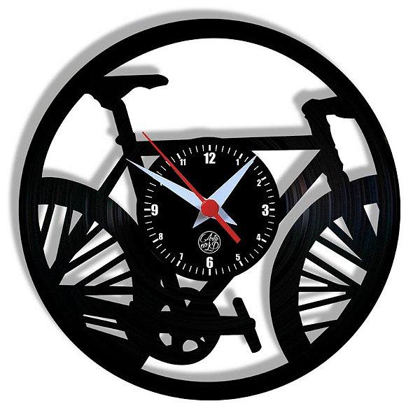 Relógio de Vinil - Bicicleta Esporte Saúde