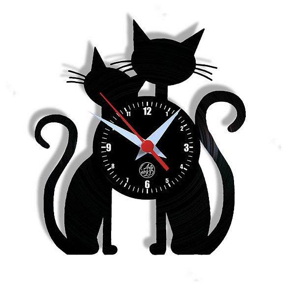 Relógio de Vinil - Gatos Petshop Pet Gatinhos