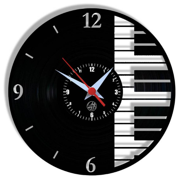 Relógio de Vinil - Piano Música Instrumento