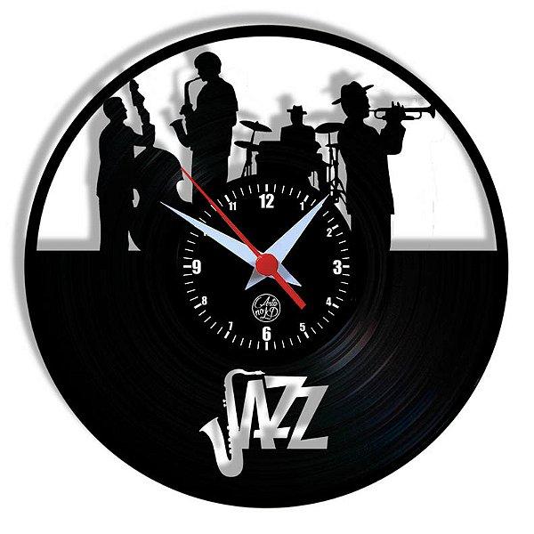 Relógio de Vinil - Jazz