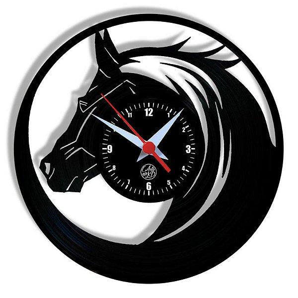 Relógio de Vinil - Cavalo