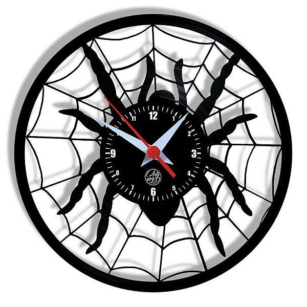 Relógio de Vinil - Aranha