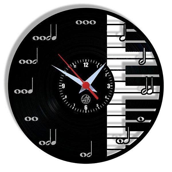 Relógio de Vinil - Notas Musicais
