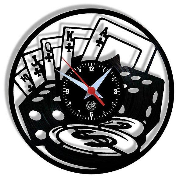 Relógio de Vinil - Poker Baralho Cartas