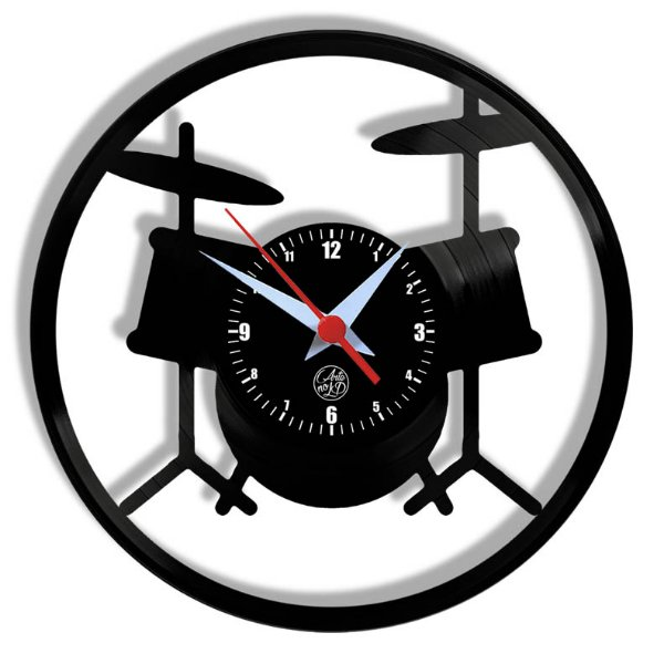 Relógio de Vinil - Bateria