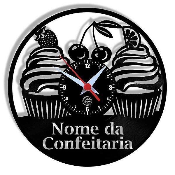Relógio de Vinil - Confeitaria Personalizado