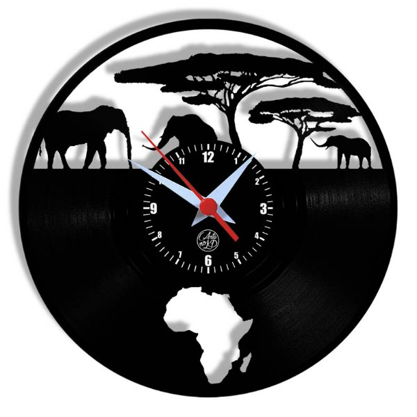 Relógio de Vinil - Africa Novo