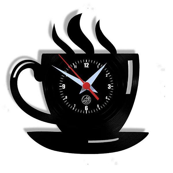 Relógio de Vinil - Xícara Café Cozinha