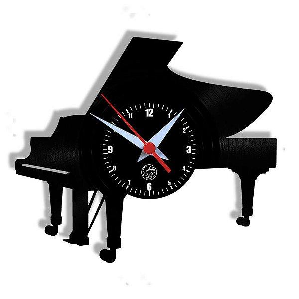 Relógio de Vinil - Piano Cauda