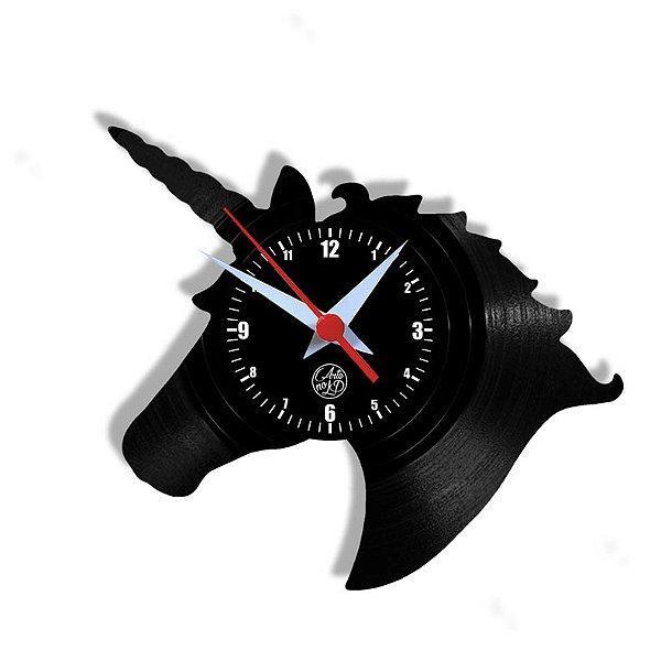 Relógio de Vinil - Unicornio