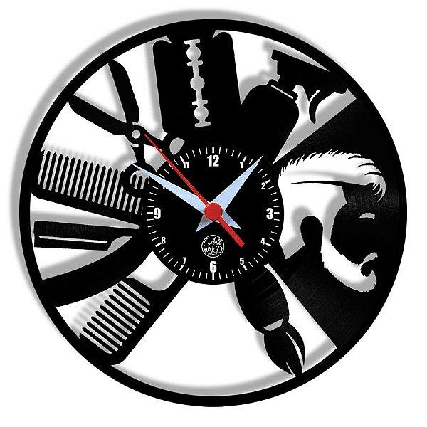 Relógio de Vinil - Barbearia Modelo2