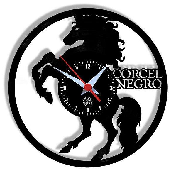 Relógio de Vinil - Cavalo Corsel Negro