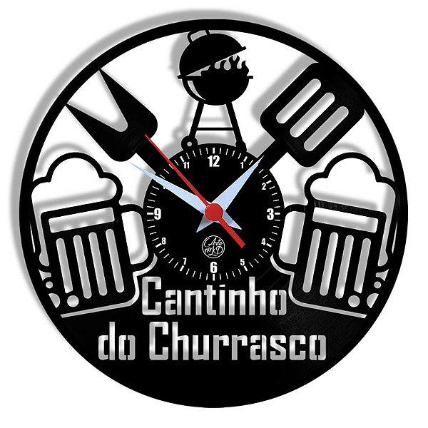 Relógio de Vinil - Cantinho Do Churrasco