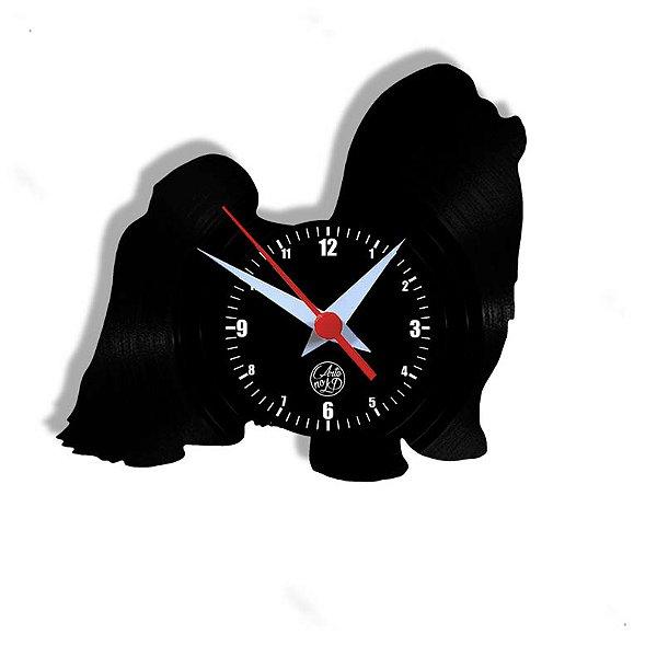 Relógio de Vinil - Cachorro Shitsu