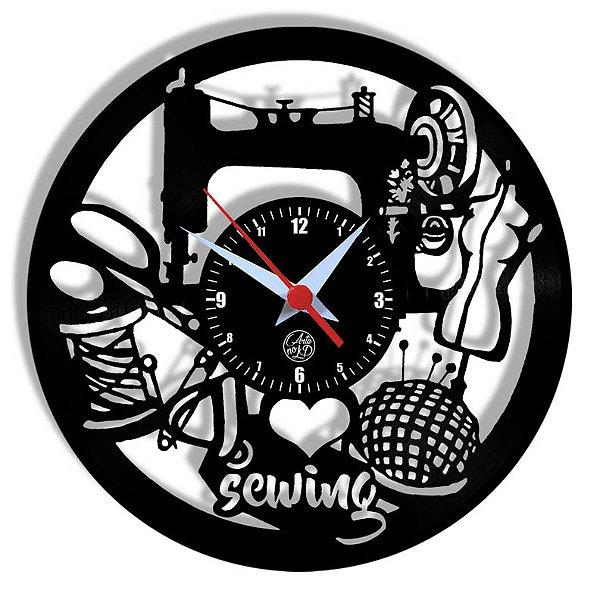 Relógio de Vinil - Costureira