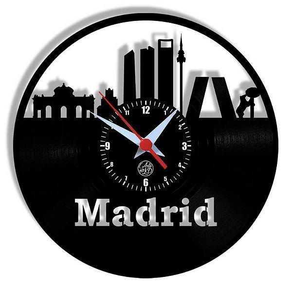 Relógio de Vinil - Madrid Viagem Turismo