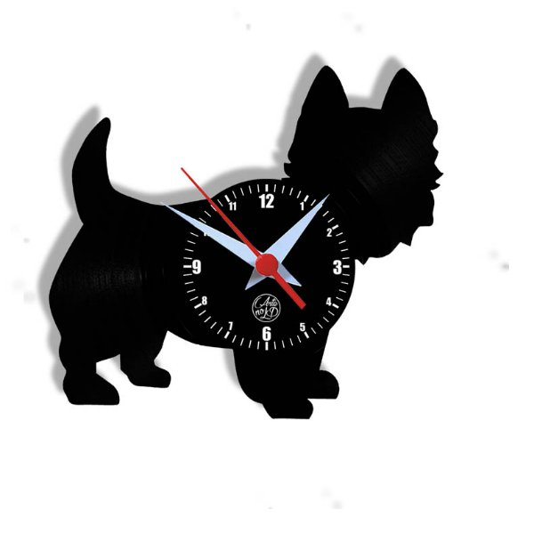 Relógio de Vinil - Cachorro Westie Highland
