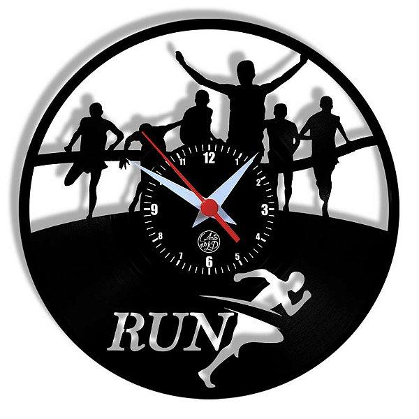 Relógio de Vinil - Esporte Corrida Maratona