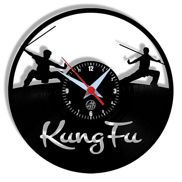 Relógio de Vinil - Esporte Kungfu Artes Marciais