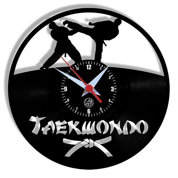 Relógio de Vinil - Esporte Taekwondo  Artes Marciais