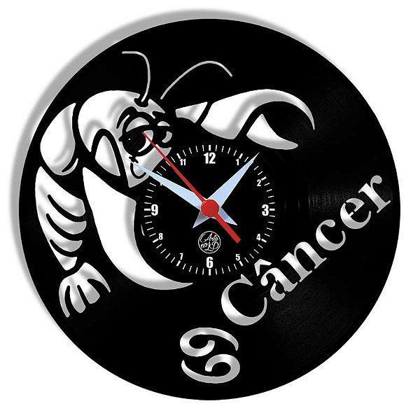 Relógio de Vinil - Signos Câncer
