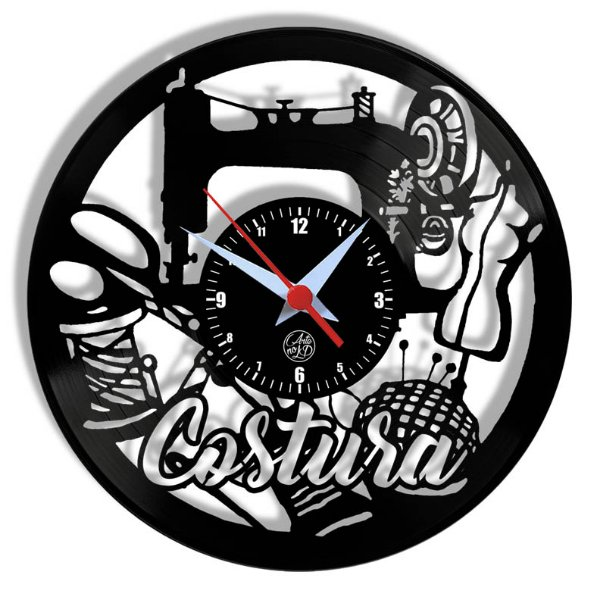Relógio de Vinil - Costura Profissão