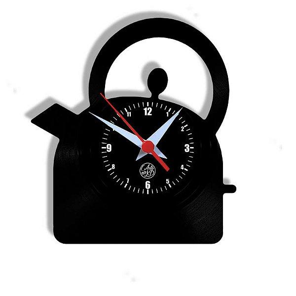 Relógio de Vinil - Cozinha Chaleira