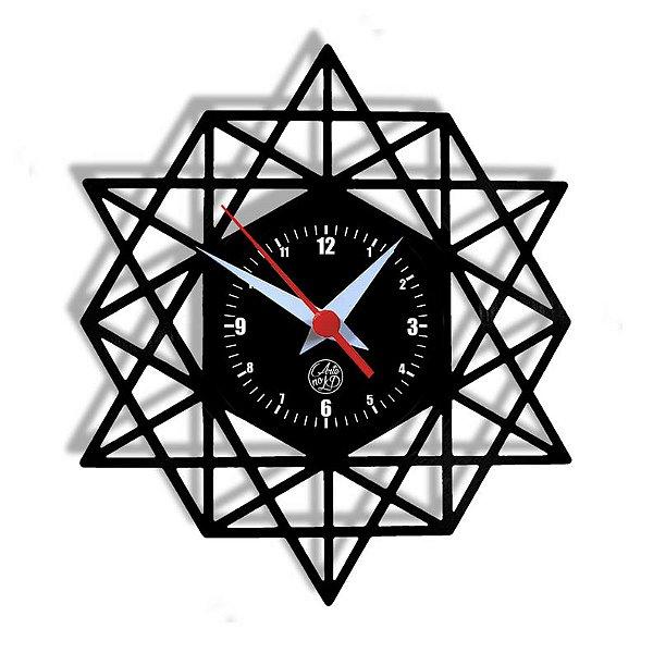 Relógio de Vinil - Geométrico