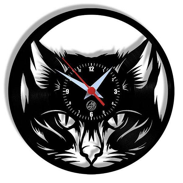 Relógio de Vinil - Gato Pet Petshop Gatinho