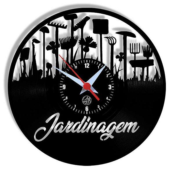 Relógio de Vinil - Jardinagem