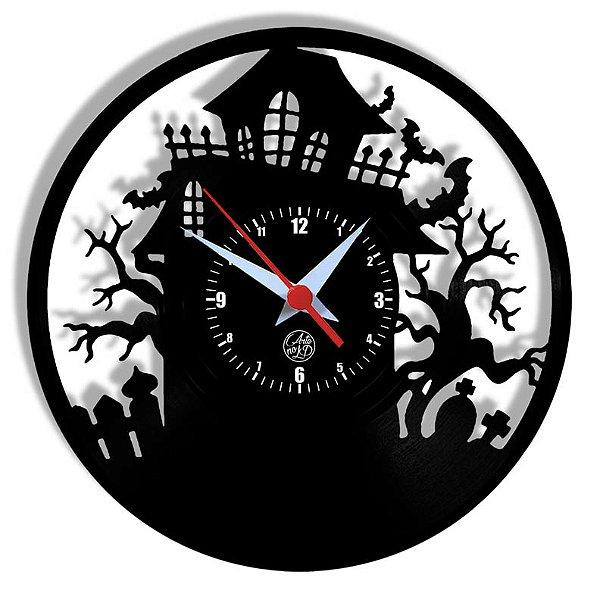 Relógio de Vinil - Halloween