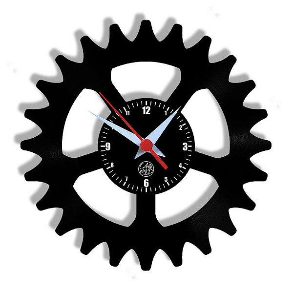 Relógio de Vinil - Coroa Bicicleta