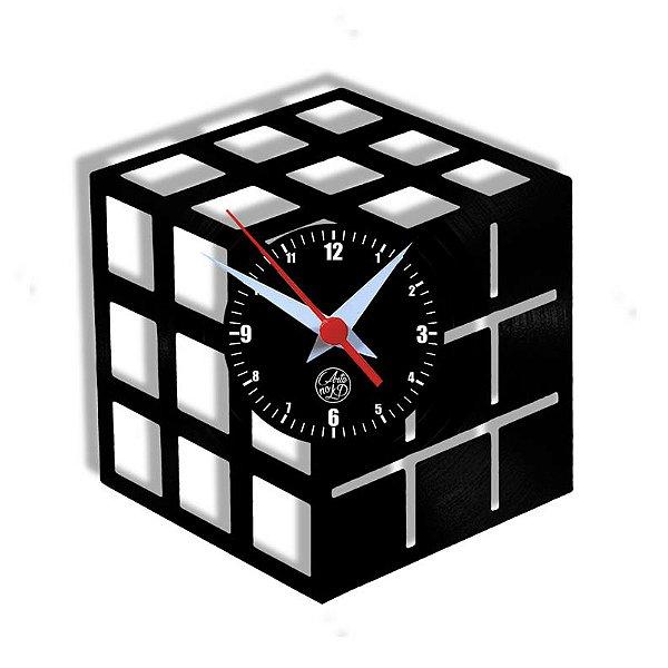 Relógio de Vinil - Cubo Mágico