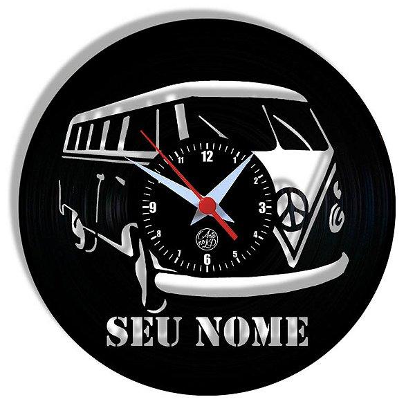 Relógio de Vinil - Kombi Personalizada