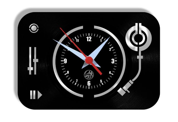 Relógio de Vinil - Toca Discos