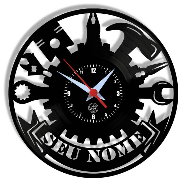 Relógio de Vinil - Oficina