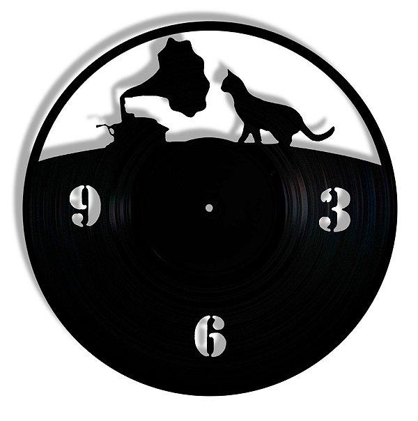 Vinil - Gato Gramofone Pet Musica