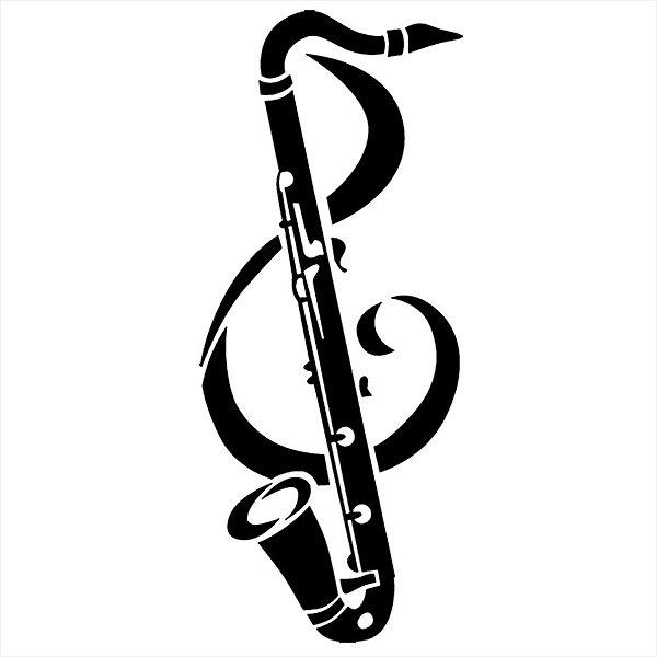 Adesivo - Sax & Clave Música