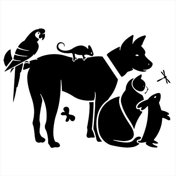 Adesivo - 6 Animais Natureza